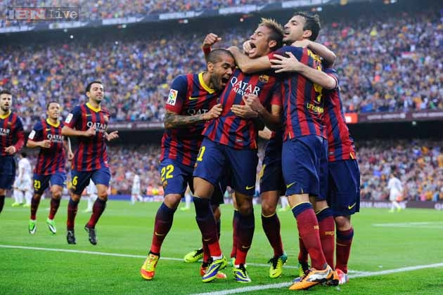 el clasico neymar leads barcelona to 2 1 win over real madrid news18