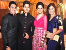 TV Stars Attend Ravi Dubey Sargun Mehtas Wedding Reception