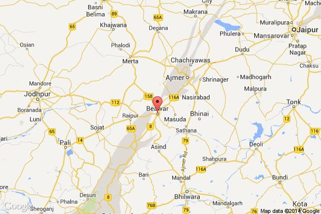 Persons Killed As Underconstruction House Collapses In Beawar - Beawar map