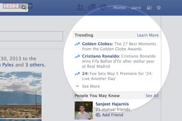 Facebook adds Twitter-like trending topics - News18