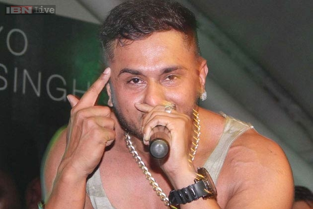 Honey singh hairstyle in brown rang