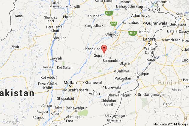 Pakistan Army Jet Crashes In Punjab Province Pilots Killed News - Pakpattan map