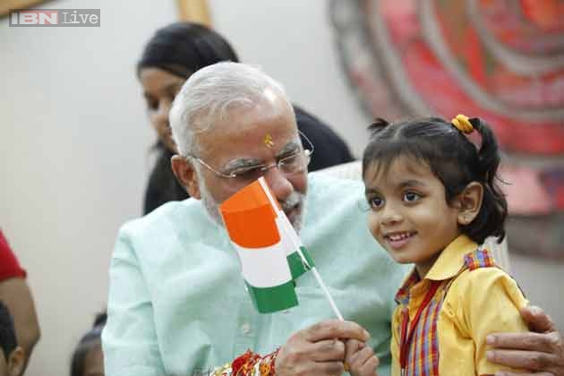 Modi@365: Narendra Modi interacts with children