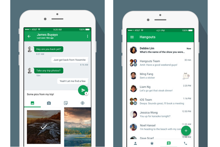 Google updates Hangouts for iOS with Material Design, improved features