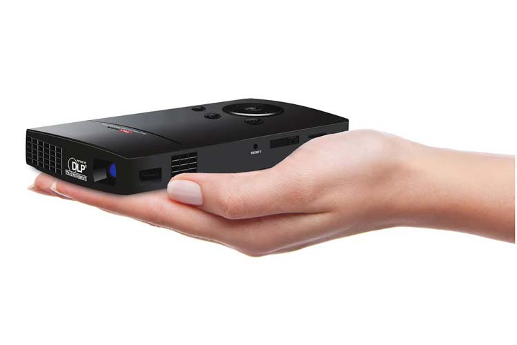 Portronics launches palm sized pico projector at rs 22500 for Palm projector