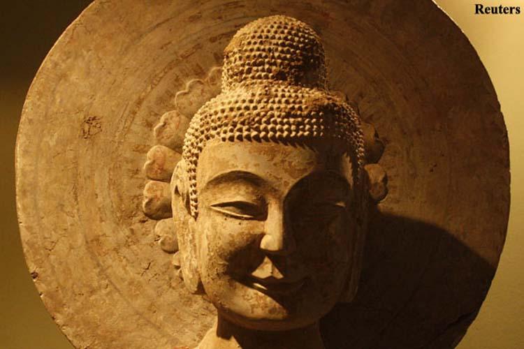 2000 year old ashoka stupa restored in remote china news18 for Ashoka the great cuisine of india