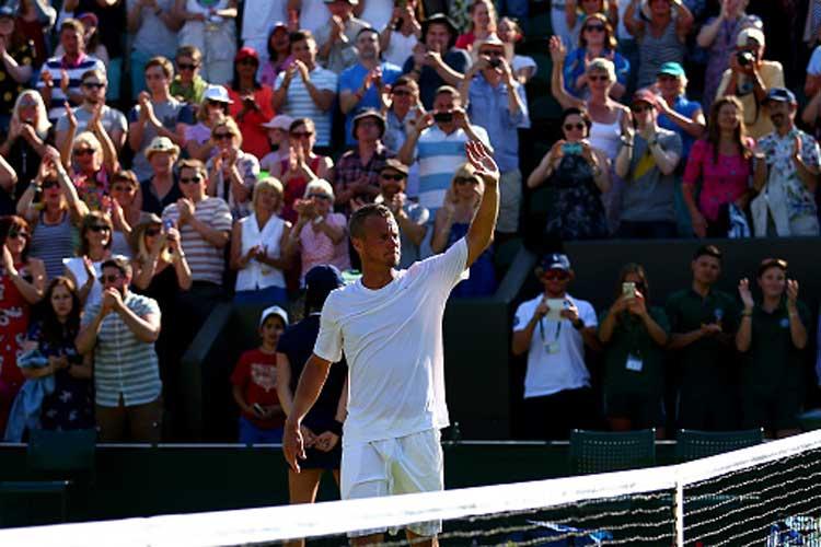 Lleyton Hewitt waves goodbye to Wimbledon after five-set thriller