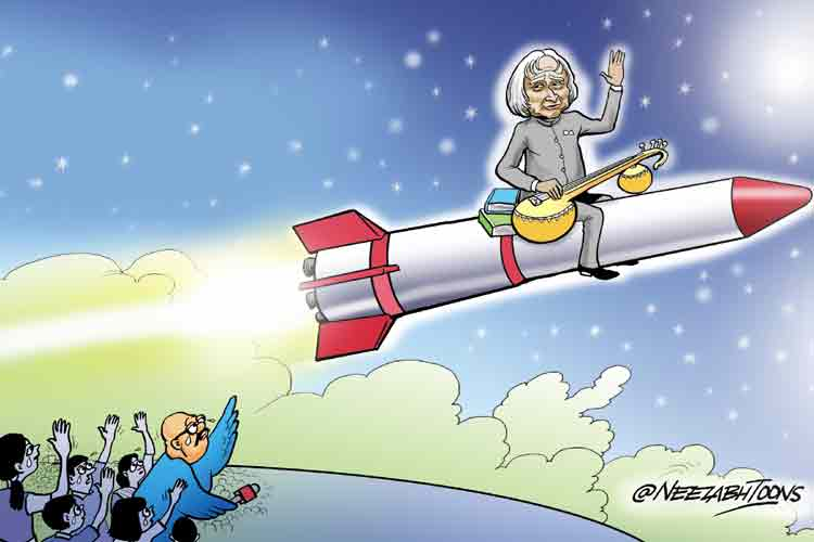 Cartoon of the day: Former president Dr APJ Abdul Kalam dies in Shillong