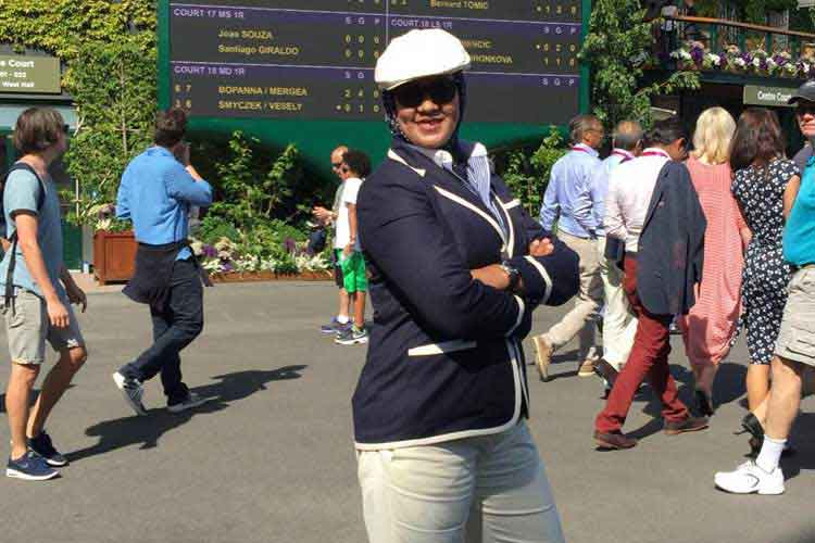 Aseel Shaheen is first Arab woman to officiate at Wimbledon
