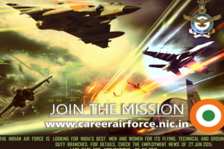 American fighter jet F18 used in IAF advertisement