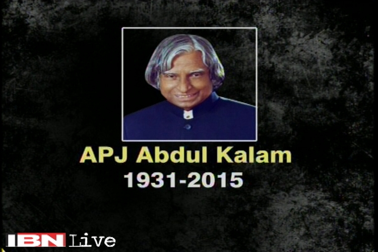 Ex-president Dr APJ Abdul Kalam's body being brought to Delhi, to be received by PM Modi