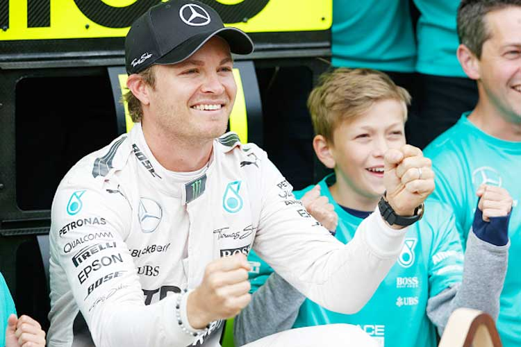 Mercedes' Nico Rosberg fastest in British GP practice