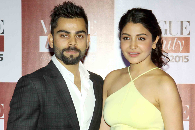 Image result for Kohli and Anushka in nh10 red carpet