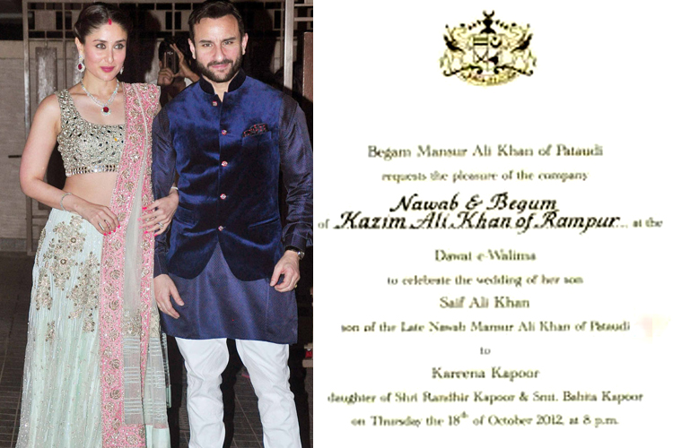 12 unique, quirky and elegant celebrity wedding invites you may have missed - News18