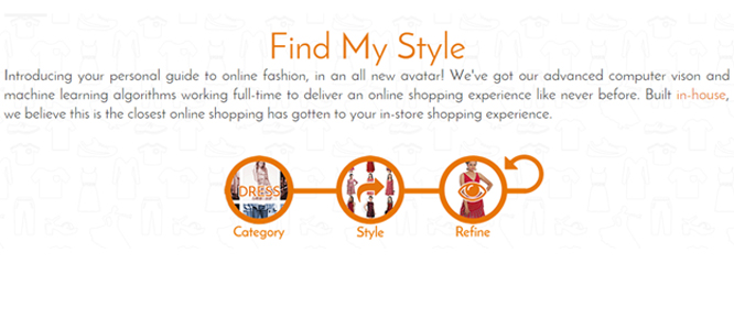 The products are automatically curated into styles using images and ...