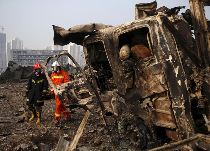 Death toll in China's Tianjin blasts rises to 160