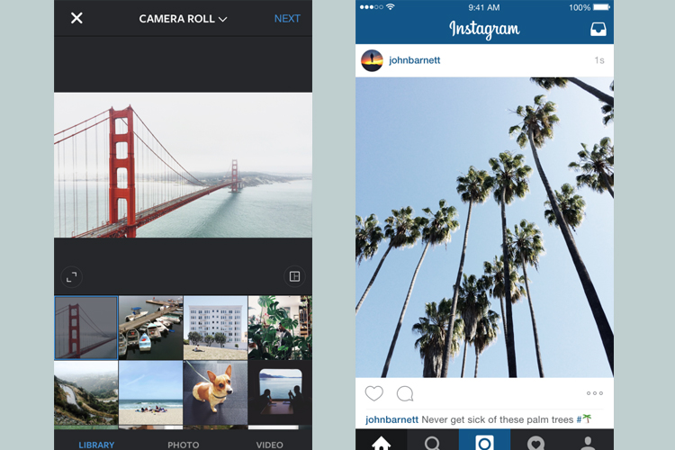 not only square instagram users can now also share photos