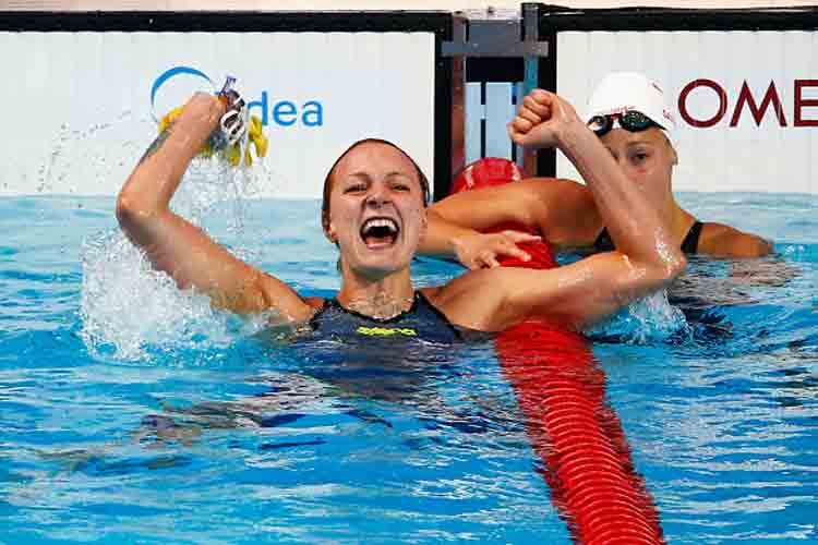 Sweden's Sarah Sjostrom sets world record in 100m butterfly