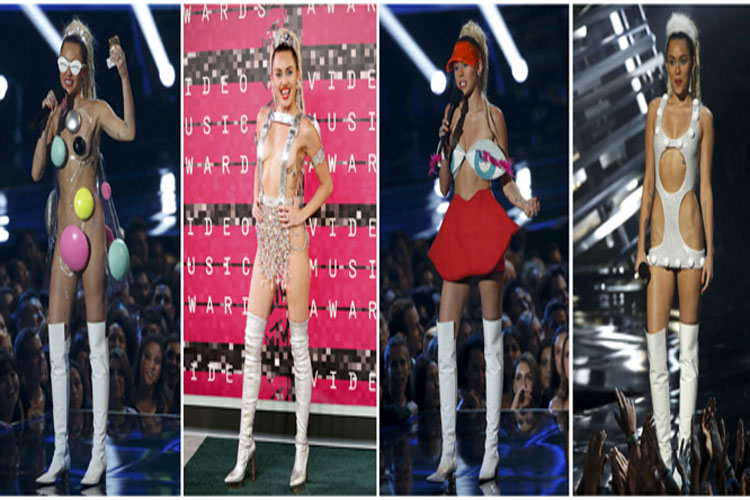 VMA 2015: 9 outrageous, revealing outfits that Miley Cyrus wore to shock her fans