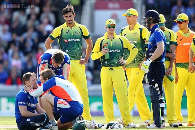 Australia 'shaken' by Eoin Morgan's blow to the head