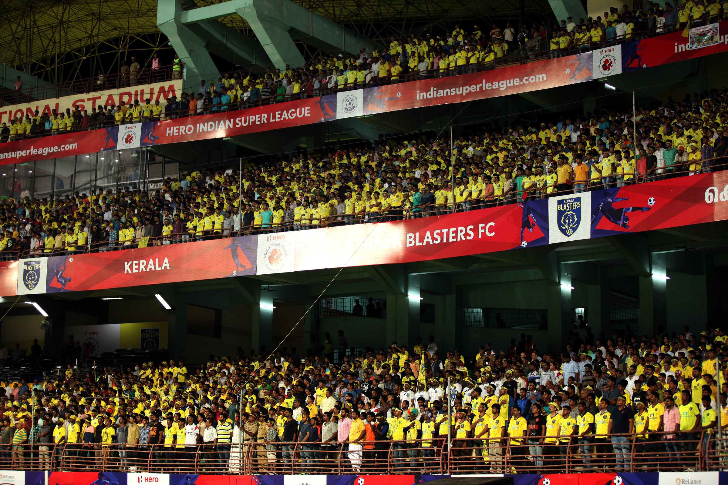 Kerala Blasters. (Photo by Sandeep Shetty / ISL/ SPORTZPICS)
