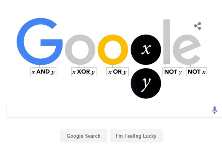 Google doodle commemorates English mathematician George Boole's 200th birthday