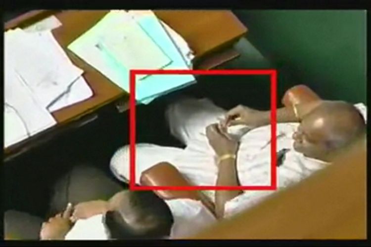 Karnataka BJP MLA caught chewing paan inside state Assembly