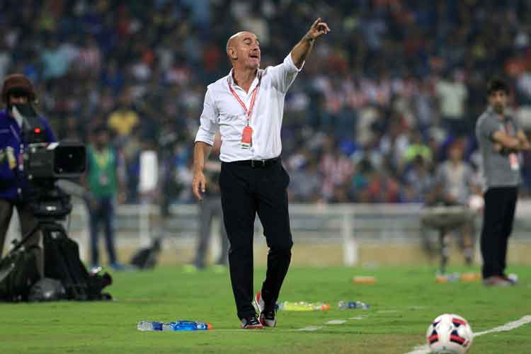File Image of Former ATK coach Antonio Lopez Habas instructing his players from the sidelines of the ground. (ISL)