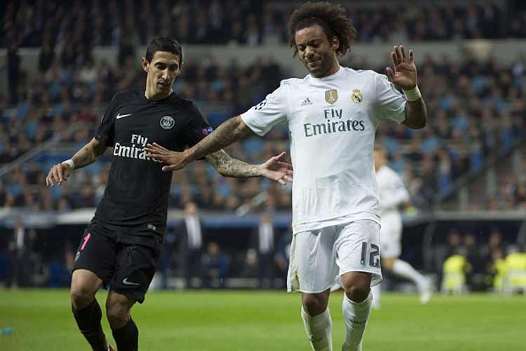 Marcelo Vieira was injured in Tuesday's Champions League clash against Paris Saint-Germain, which Madrid won 1-0.