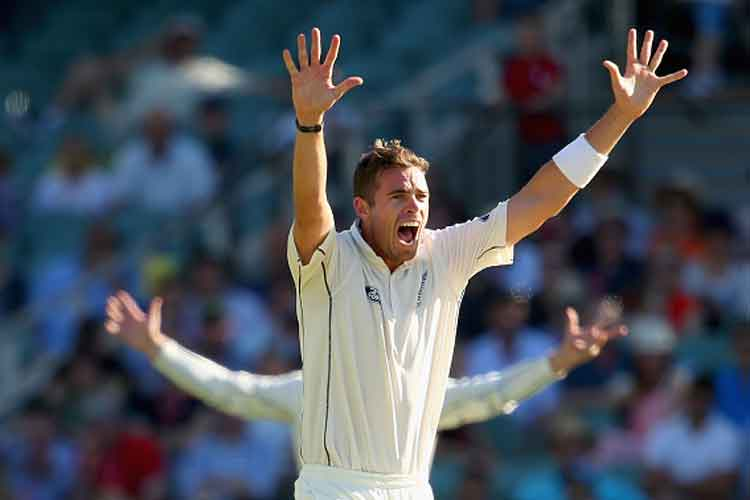 Tim Southee appeals for an lbw decision during the match. (Getty Images)
