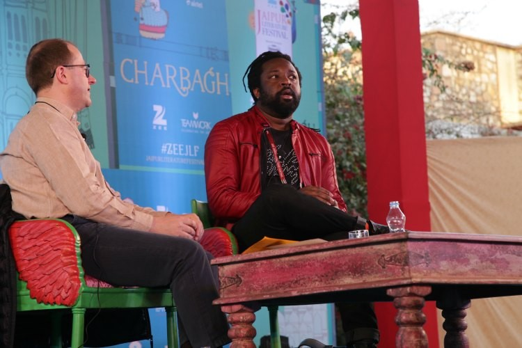 Marlon James at the Zee Jaipur Literature Festival