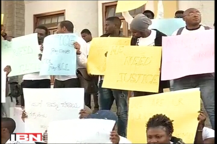 African students protest in Bengaluru over attacks on Tanzania girl, say don't feel safe in India