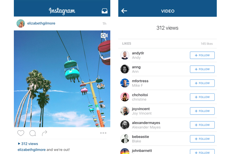 Instagram Videos to Show View Counts Soon