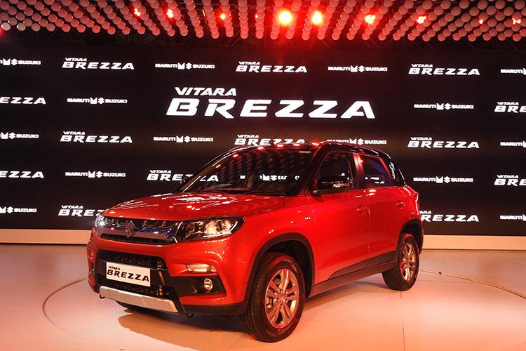 Auto Expo 2016 Launches Updates News Images: Maruti Suzuki Vitara Brezza Launch Kicks Off Auto Expo