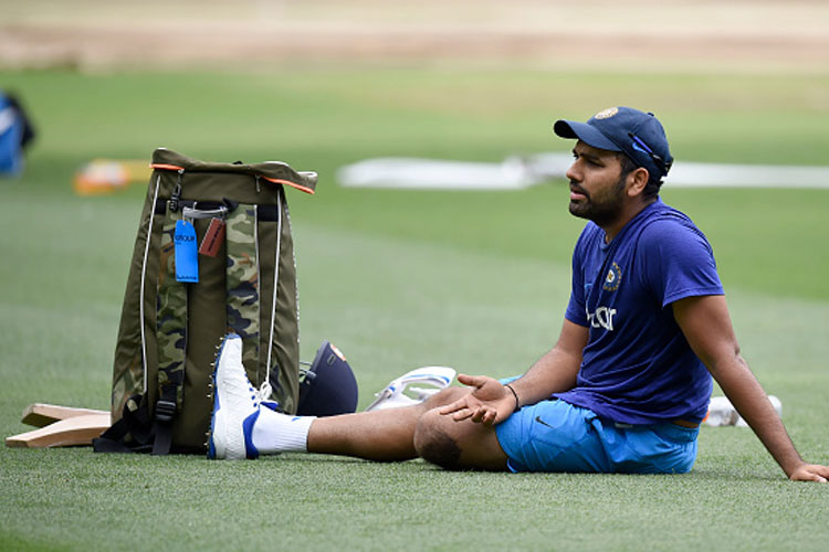 Rohit misses practice, Shikhar rusty at training session