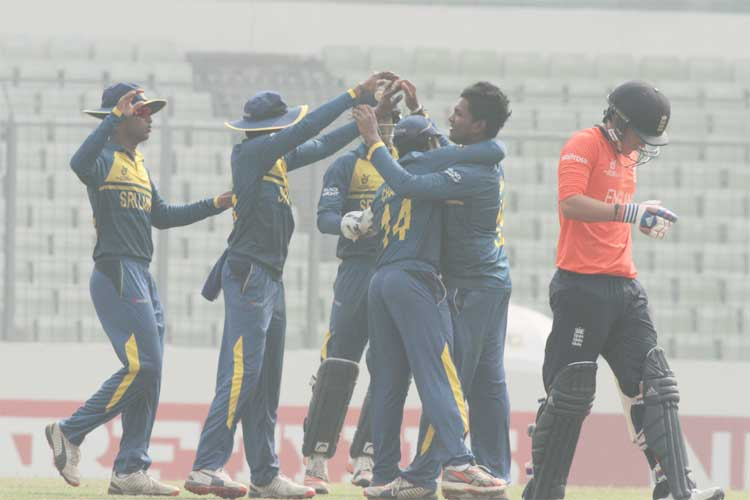 U-19 World Cup: Sri Lanka beat England to set up semis clash with India