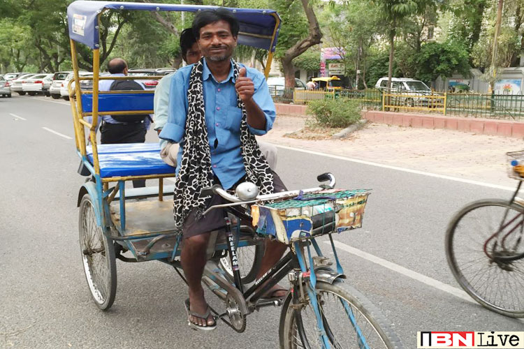 a rickshaw puller I come from a tiny village in bihar, one of india's poorest states even though i'm 36 now, ever since i can remember i've been pulling a rickshaw.
