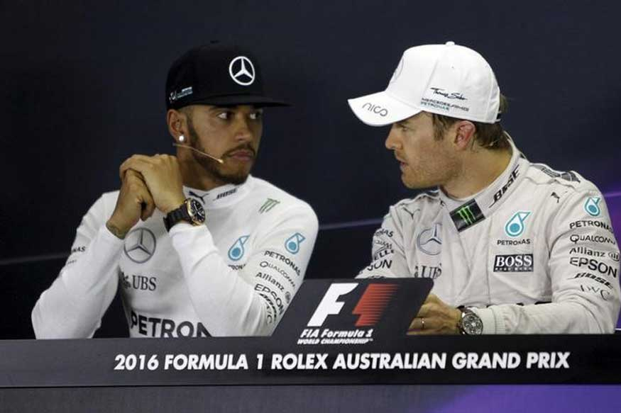 Hamilton, Rosberg Clear Air After Collision at Spanish GP
