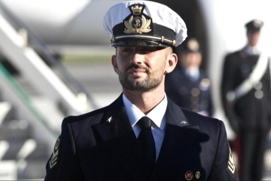 Accused Italian Marine Returns Home From India