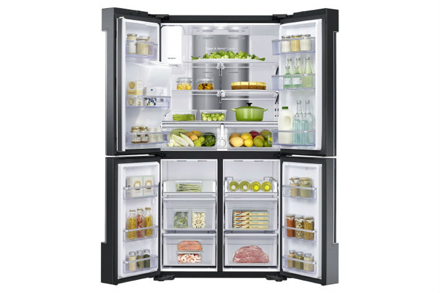 samsung launches a refrigerator that 39 s also a 21 inch tv and home entertainment system news18. Black Bedroom Furniture Sets. Home Design Ideas