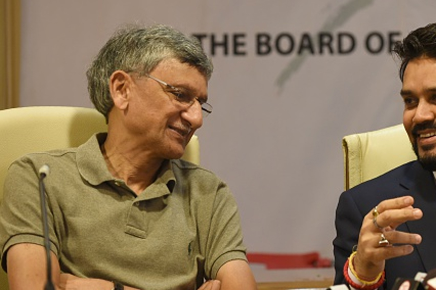 File image of BCCI Secretary Ajay Shirke during a press conference. (Getty Images)