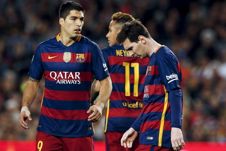 File image of Barcelona players Luis Suarez, Neymar and Messi during a game. (Reuters)