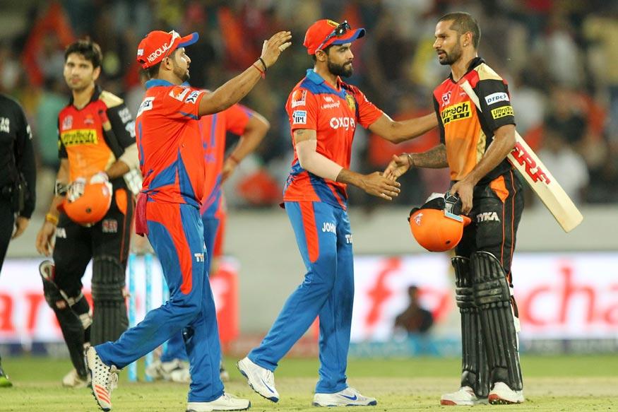 Dhawan, Bowlers Help Hyderabad Beat Gujarat By Five Wickets