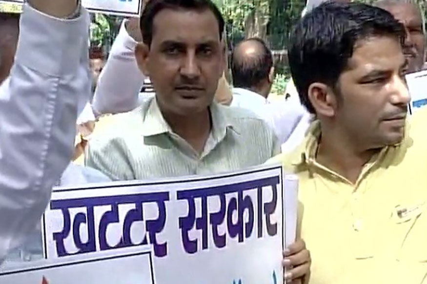 Jats Protest Outside Rajnath's Residence Demanding Reservation
