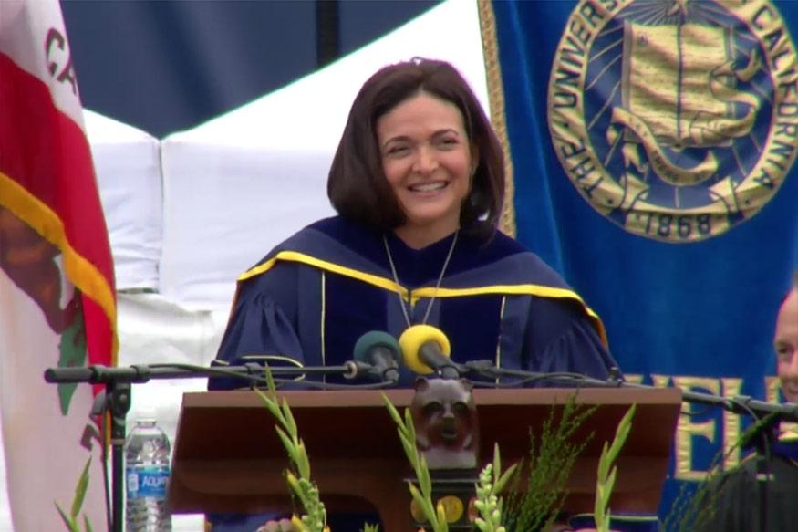 Watch: Facebook COO Sheryl Sandberg's Inspiring Speech to Graduating Students - News18