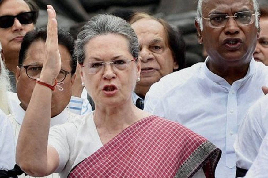 Modi Had Audacity to Launch GST at Midnight, Now Lacks Courage to Face Parliament: Sonia Gandhi