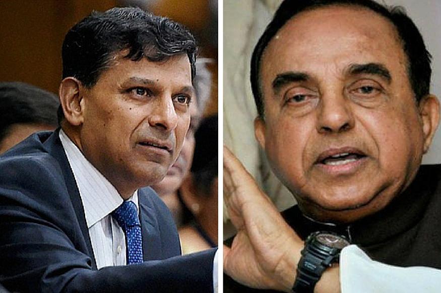 BJP MP Subramanian Swamy Renews Attack on RBI's Raghuram Rajan