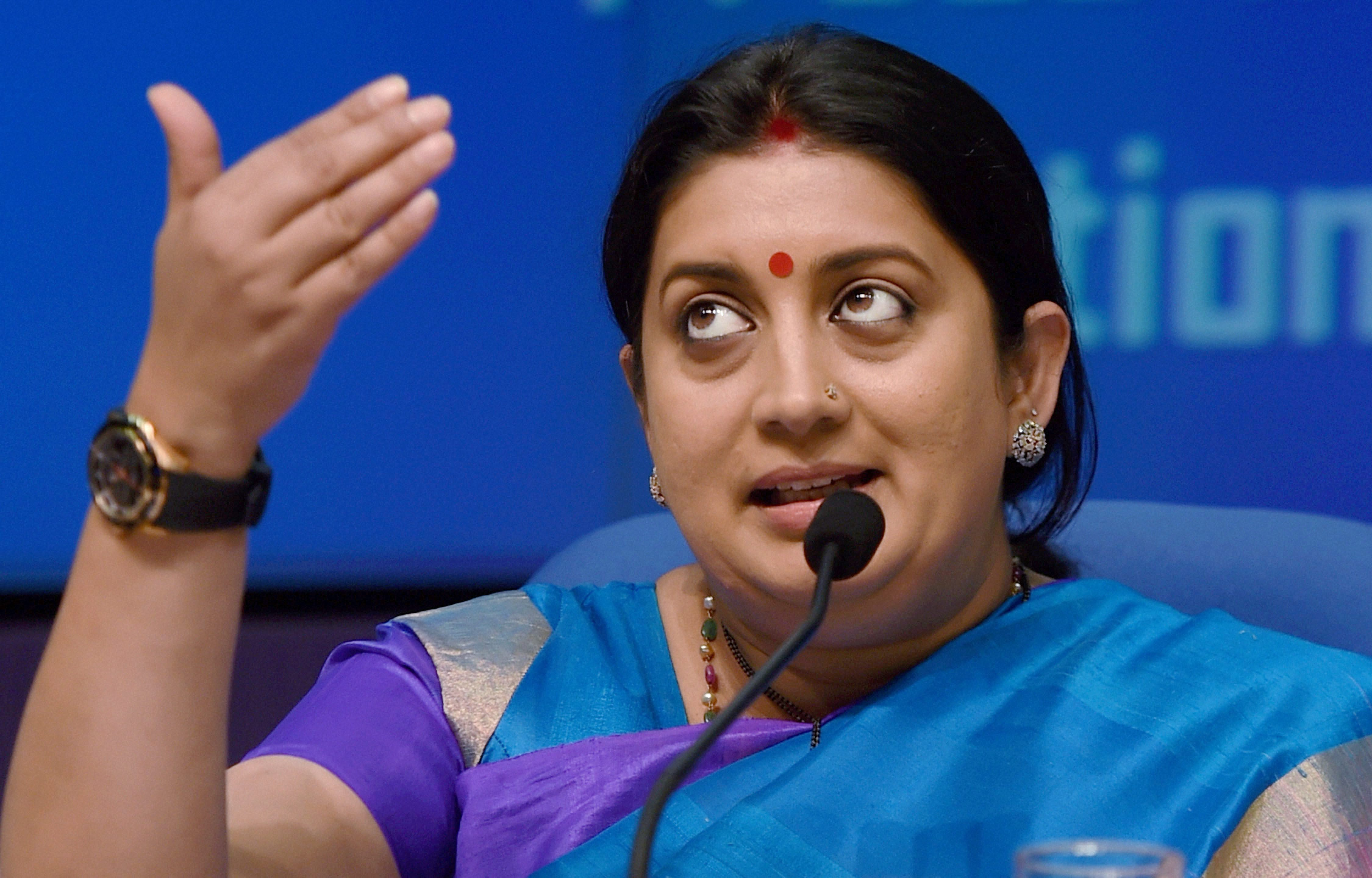 '42 Years Too Late,' Says Smriti Irani on Rahul Gandhi's Hitler Jibe at PM Modi