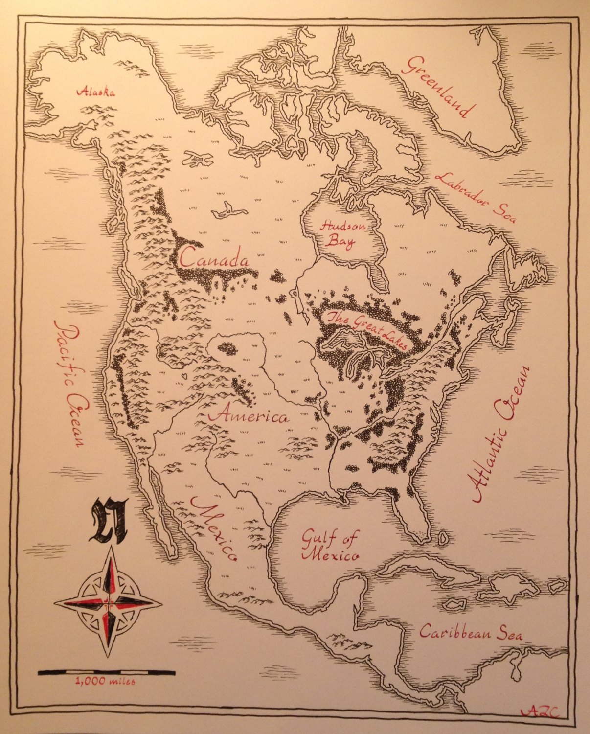 An Artist Drew a Lord of the Rings Style Map of America and it – Lord of the Rings Detailed Map