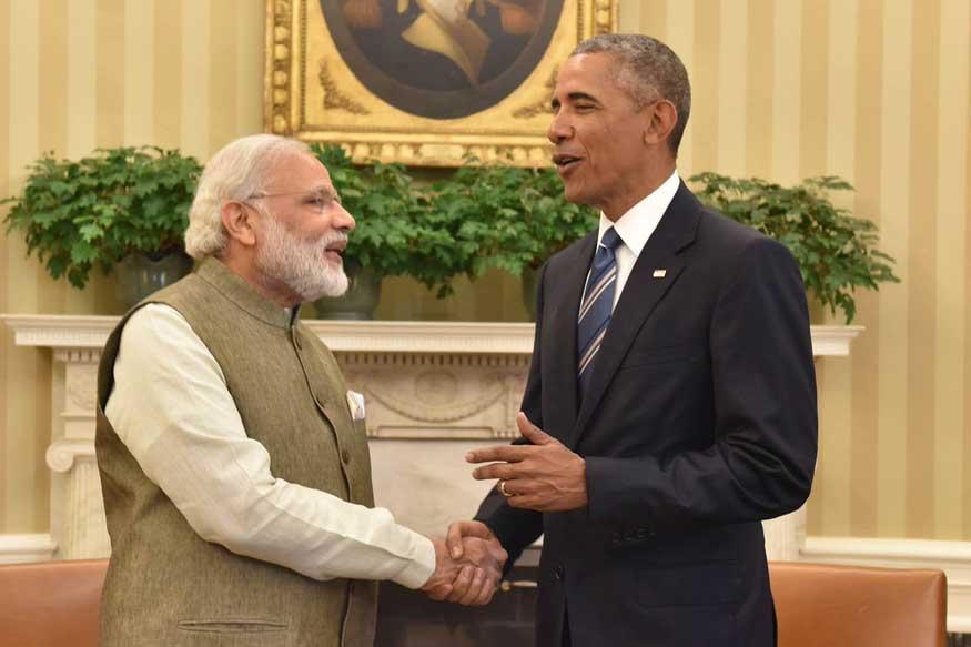 Prime Minister Narendra Modi and US President Barack Obama. (Courtesy: MEA Spokesperson Vikas Swarup/Twitter)